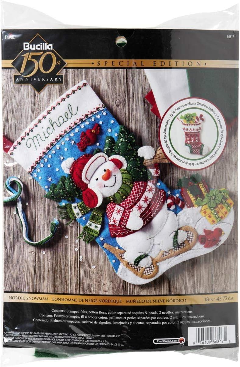 Bucilla Nordic Snowman 40% OFF Cheap Sale Stocking Kit Sale