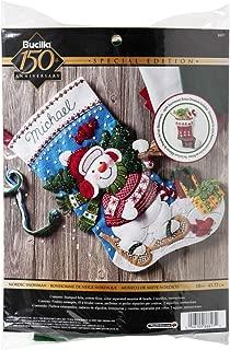 Bucilla 86817 Nordic Snowman Stocking Kit