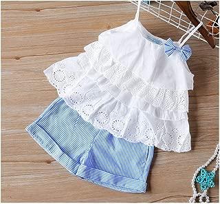 MUSTY Y - Conjunto de Ropa de Verano para niña, con Lazo Grande y Pantalones Cortos