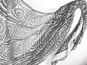 Bullidea Women's Scarves Ladies Elegant Long Warm Shawl Wrap Retro Bohemian Autumn Winter Silk Scarf Rich Plaids Pattern