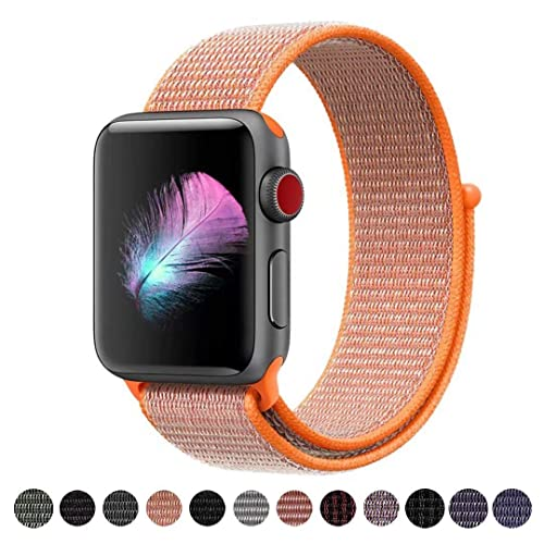 HILIMNY pour Bracelet Apple Watch 38MM 42MM, Bracelet Sport Doux in Nylon Remplacement pour iWatch Serie 1, Serie 2, Serie 3