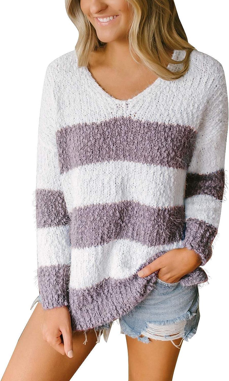 MEROKEETY Women's Price reduction Long Sleeve Sherpa Courier shipping free Sl Fleece Sweater Side Knit