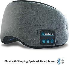 HEYMIX Bluetooth Sleeping Eye Mask Headphones,5.0 Wireless Bluetooth Headset Music Travel Sleep Headset Built-in Microphon...