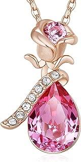 Best swarovski crystal rose necklace Reviews