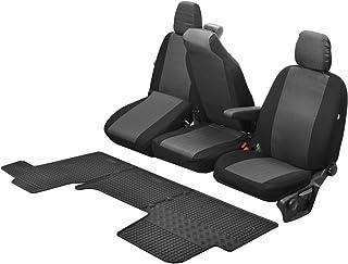 Passgenaue Sitzbezüge Hero und Gummifußmatten kompatibel mit Renault Master IV ab 2011   EIN Set