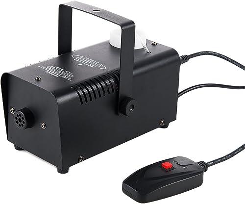 CO-Z Heavy Duty Fog Smoke Effect Generator Machine, Stage Haze Atmosphere Maker Equipment 400W w/Remote Control for H...