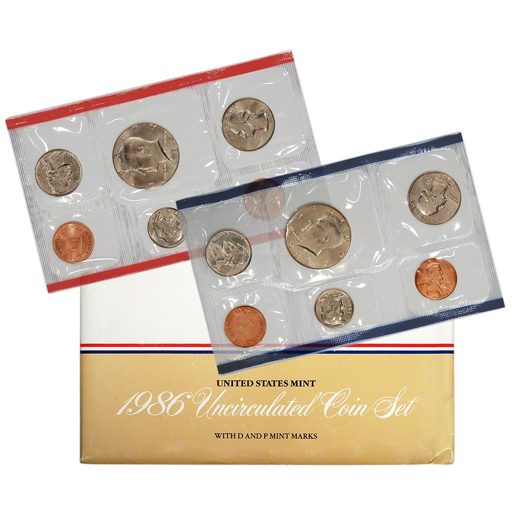 1986 US 10 latest Piece Mint Set from mint original packaging Fort Worth Mall Unc in