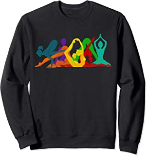 Yoga Pose Silhouettes Sweatshirt