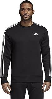 adidas Men's Athletics Essential 3 Stripe Crew Sweatshirt