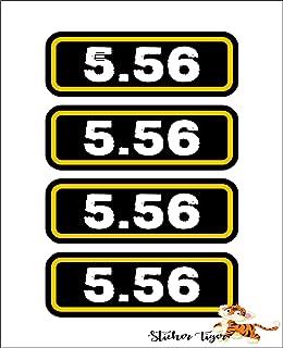 (4) 5.56 Ammo Can Sticker Set Decal Molon Labe Bullet 556 Type 2 Car Decal Sticker Vinyl American USA Merica United States Helmet Toolbox Hardhat