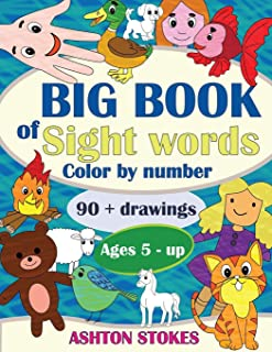 Big Book of Sight Words: Color by number