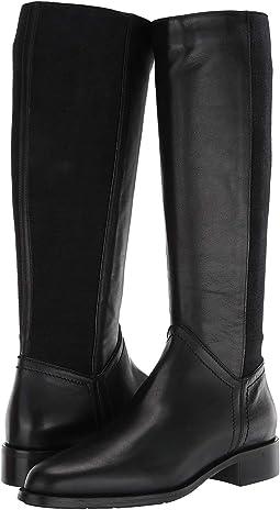 Black Calf/Cashmere Elastic