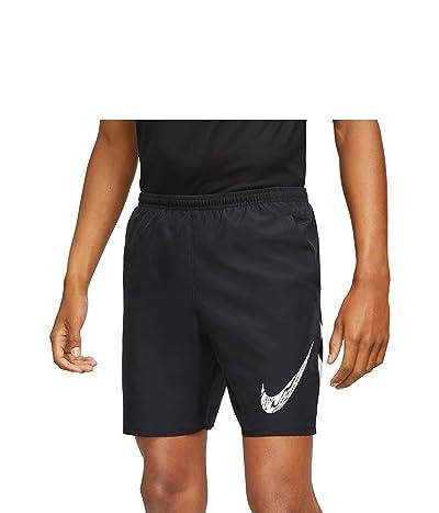 Nike Run Shorts 7 Brief Windrunner Graphic (Black/White) Men