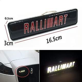 Gooogo RA-LED Outlander Lancer Evolution EVO Ralliart LED Light Car Front Grille Badge Illuminated Decal