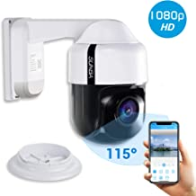 SUNBA 305-D4X PTZ PoE+ 1080p Mini IP Security Camera with Built-in Audio, 4X Optical Zoom, Auto Focus, Indoor/Outdoor and Night Vision up to 150ft