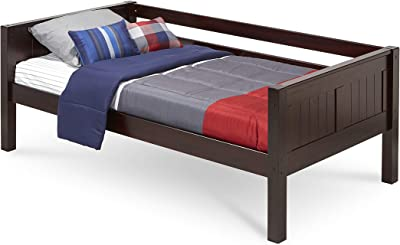 Camaflexi Panel Style Solid Wood Day Bed, Twin, Cappuccino