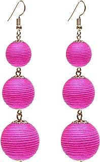 murrine earrings lobe steel pink bead Pink earrings