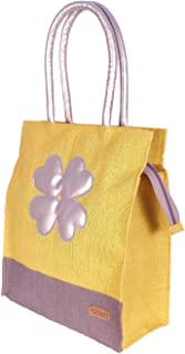 Foonty Exclusive Sunflower Daily Use Jute Lunch Bag(Yellow,FFFWB6015C)