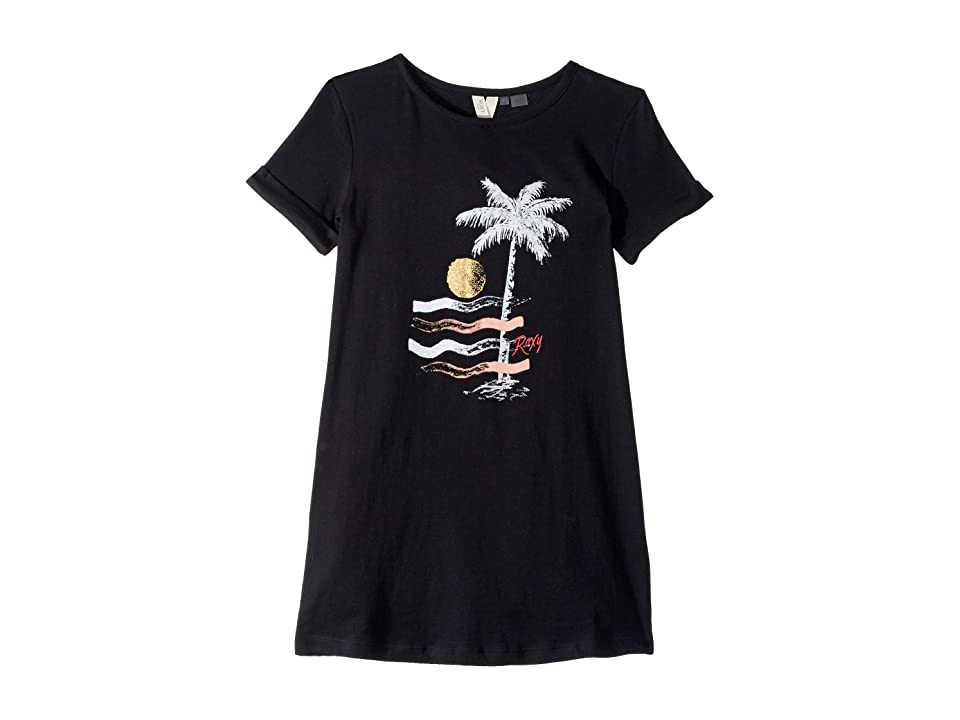 Roxy Kids Color Sky T-Shirt Dress (Big Kids) (True Black) Girl