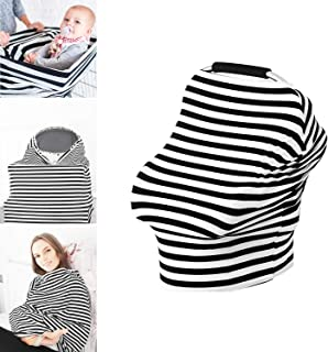 TILLYOU Jersey Knit Soft Stretchy Nursing Cover, Premium Baby Car Seat Canopy, Multi Use Breathable Hypoallergenic Breastfeeding Cover Scarf Infant Stroller Cover, Best Baby Shower Registry Gift