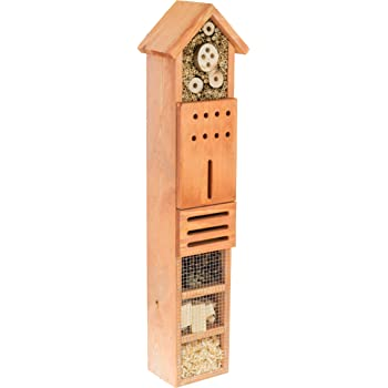 Bug keeping garden MAZUR International Wooden Insect hotel /& Bee house nesting box butterflies shelter