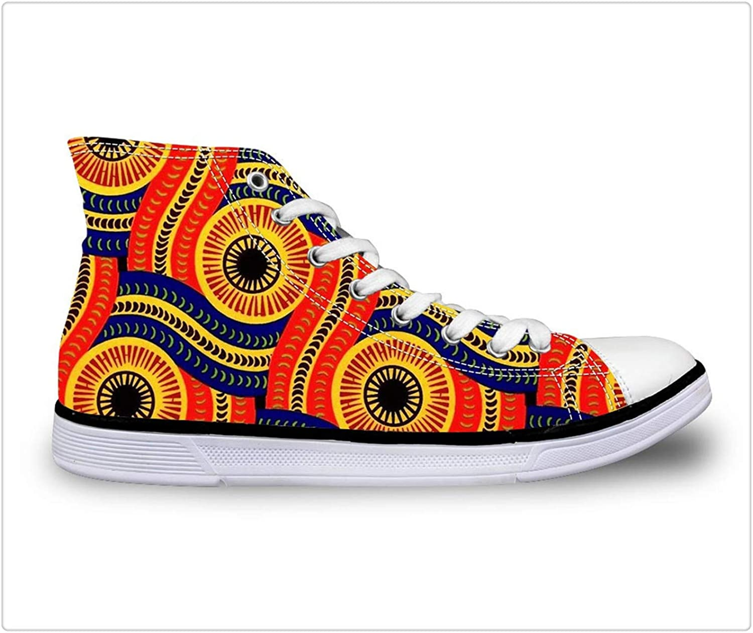 Yyixianma Women's Volucanized shoes African Traditional Printing High-top Canvas shoes for Teenagers Fashion Sneakers shoes T0428AK 40