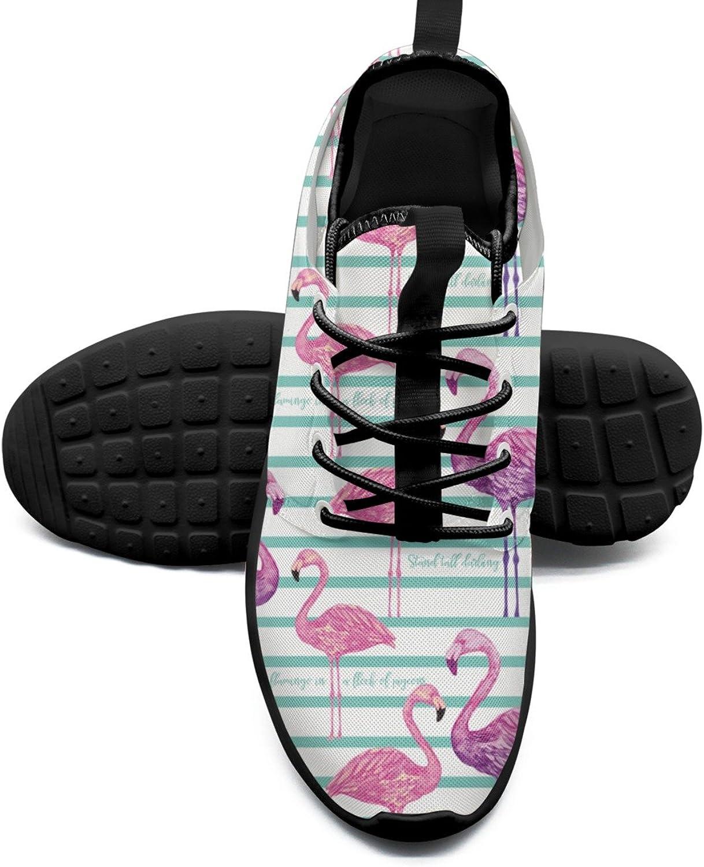 Estampa Flamingos Fashion Women's Gym shoes Cute Mesh Lightweight Tennis Sneakers