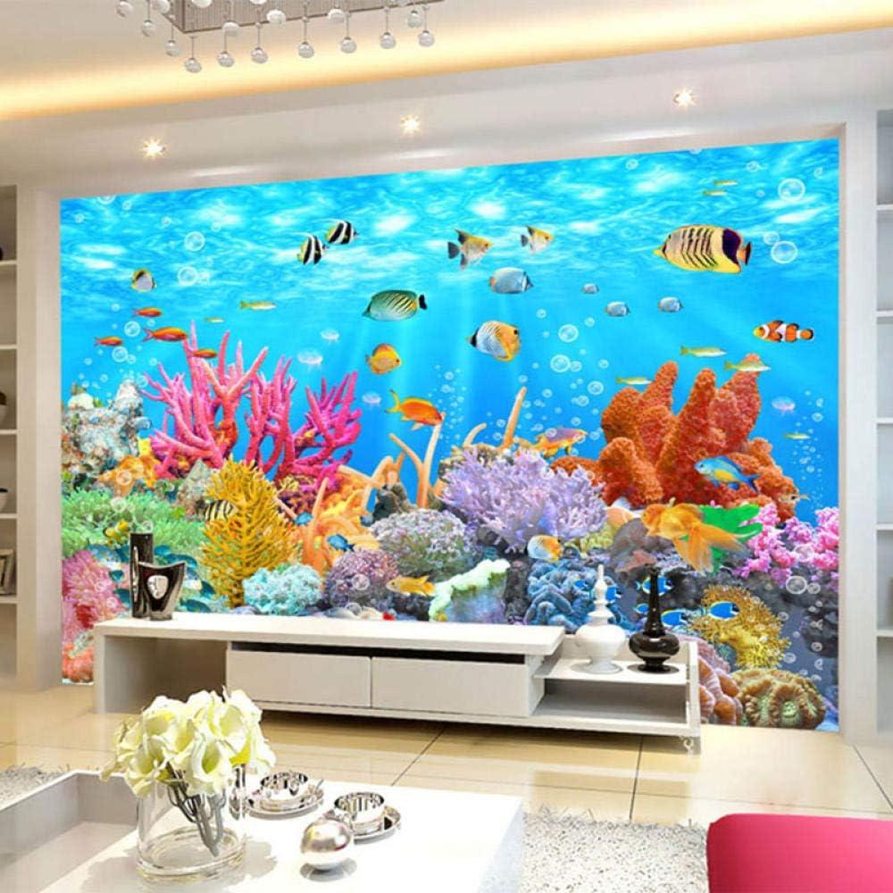 5% OFF YNYEZBH 3D Living Room Wallpaper Underwater World Bedroom 25% OFF Coral