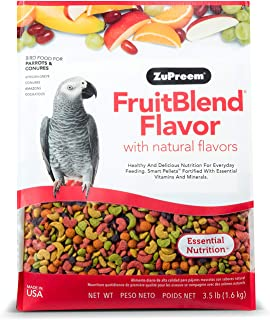 Zupreem FruitBlend Flavor ,Medium & Large Parrot Food , 3.5 lb (1.6 kg)