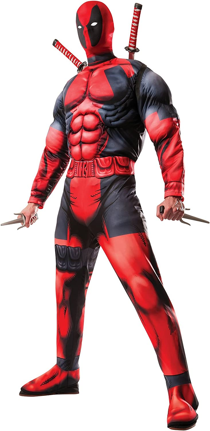 safety Marvel Rubie's Men's Universe Classic Muscle Cost Chest Deadpool Fort Worth Mall