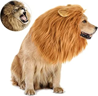 Dog Costume, Halloween Dog Costumes Lion Mane for Medium Large Dogs, Realistic Lion Wig Costumes for Dogs, Funny Dog Costu...