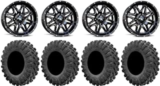 Bundle 4x137 Bolt Pattern 10mmx1.25 Lug Kit System 3 SB-3 Black 14 Wheels 28 BFG KM3 Tires 9 Items