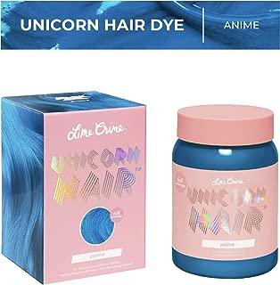 Lime Crime Unicorn Hair Dye, Anime - Candy Blue Fantasy Hair Color - Full Coverage, Ultra-Conditioning, Semi-Permanent, Damage-Free Formula - Vegan - 6.76 fl oz