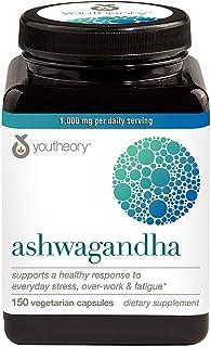 Youtheory Ashwagandha 1000 MG Stress Formula 150 Vegetarian Capsules