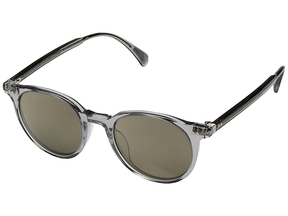 Oliver Peoples Delray Sun (Workman Grey/Grey Goldtone) Fashion Sunglasses