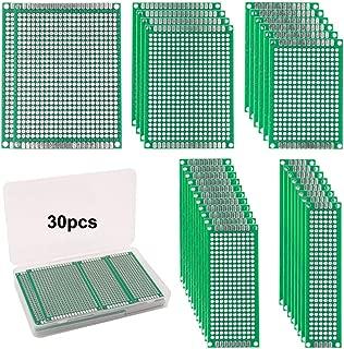 FULARR® 30Pcs Premium Doble Cara PCB Prototipo Placa Kit, 5 Tamaños Universal PCB Prototipo Circuito Placa, para Arduino Kit, Soldadura DIY y Proyecto Electrónico