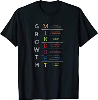 Growth Mindset Motivational Inspirational Fun T-Shirt