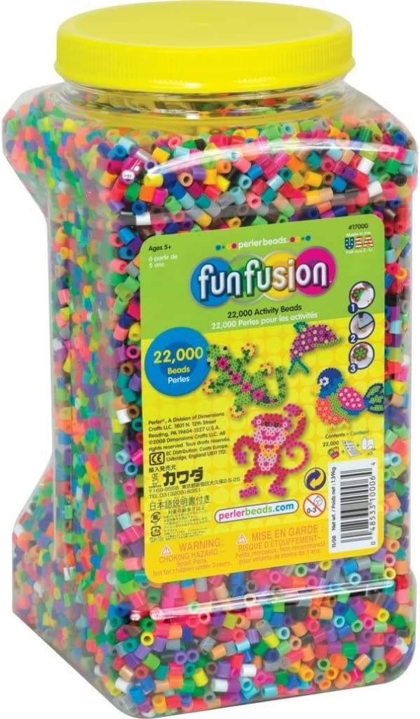 Toy Tucson Mall Game Perler Beads 22 000 Multi-Mix Mail order Bead Colors Count U Jar