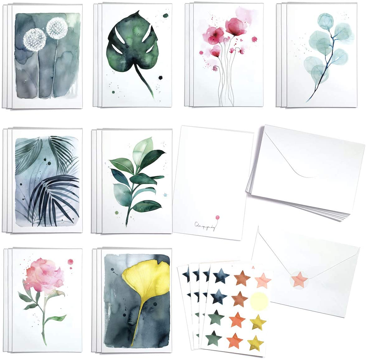 Cute Botanical Greeting Cards Box of with Deluxe and cards 24 Envelopes shopping