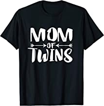 Mom Of Twins T-Shirt Mother Pregnant Announcement Gift