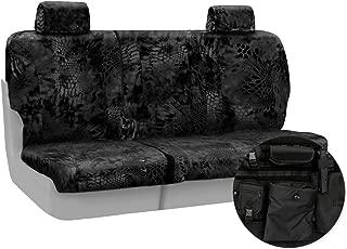 Coverking Rear 60/40 Bench Custom Fit Tactical Seat Cover for Select Chevrolet Silverado Models - Cordura Ballistic (Kryptek Typhon Camo)