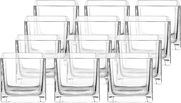 整个家庭用品月方形玻璃花瓶烛台月包透明魔方核心