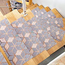 Non Slip Carpet Stair Treads Rug mats,PVC Self-adhesive Stair Treads Staircase Non-slip Mat Rug Cover Pad Wooden Indoor St...