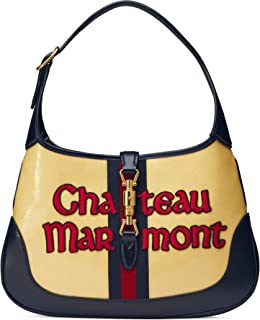 Gucci Jackie Medium Stripe Yellow Chateau Marmont Bag Stripe Red Green Italy New