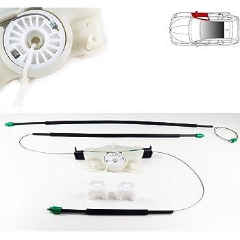 Skoda Fabia el/éctrico regulador de ventana Kit de reparaci/ón delantero derecho lado o//s UK Driver Side 1999/ OSF Off Side ventana Regulador Clips de cables, Polea /2007