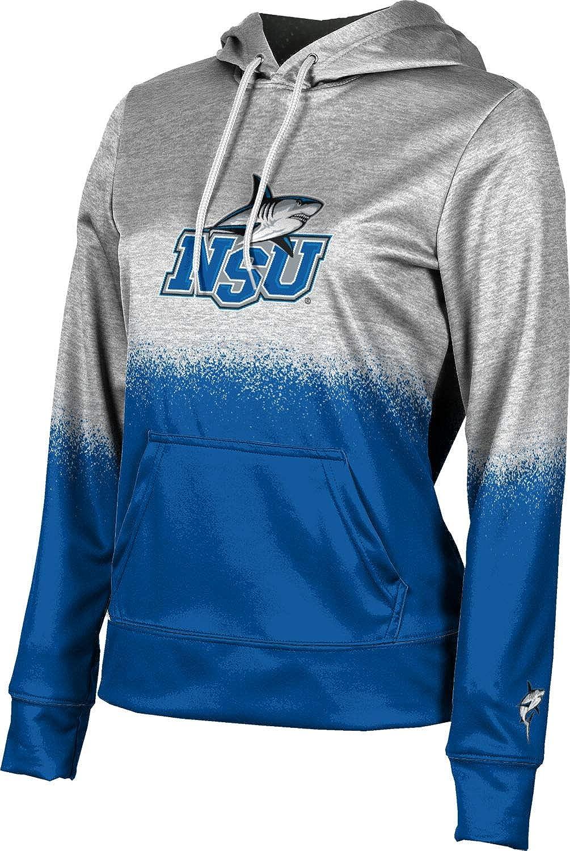 Nova Southeastern University Girls' Pullover Hoodie, School Spirit Sweatshirt (Spray Over)
