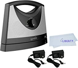 Serene Innovations TV-SB Portable Wireless Tv Soundbox with Extra Power Adapter with LIBERTY Microfiber Cleaning Cloth