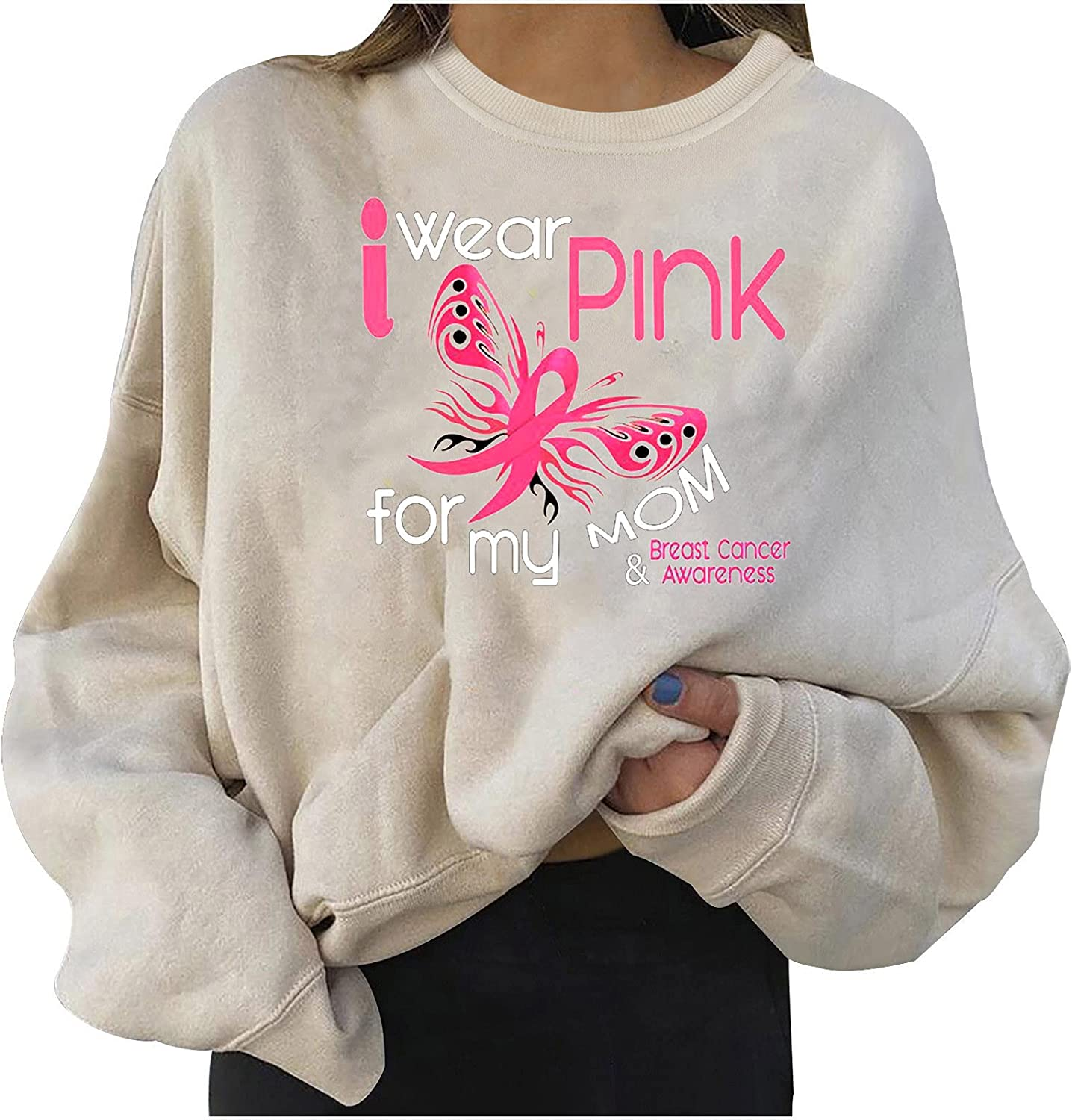 Winter Sweaters for Womens Round Neck Pullovers Sweatshirt Fashion Printed Blouse Tops Long Sleeve Hoodie