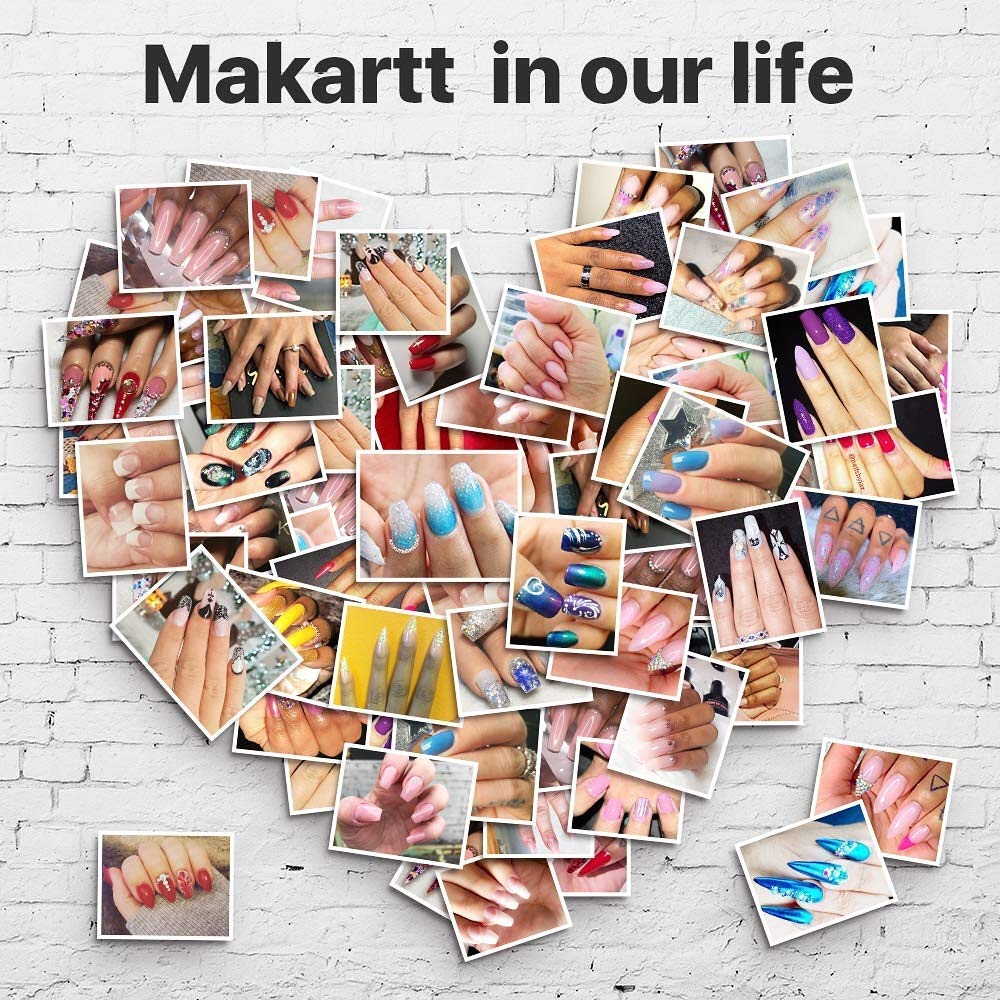 Makartt Nail File Zebra Nail Files 100 180 Grit for Acrylic Nails Poly Nail Gel Emery Boards for Nails 10 Nail File Kit Nail Accessories Manicure Tools