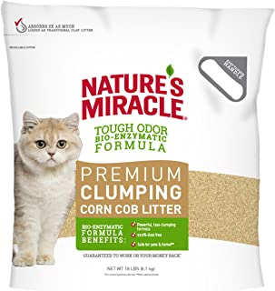 Nature's Miracle Premium Clumping Corn Cob Litter, Tough Odor Bio-Enzymatic Formula, Dust Free